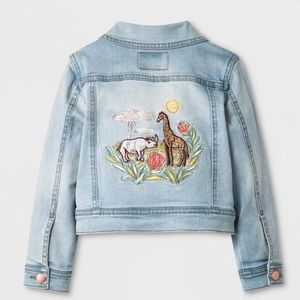 NWOT Genuine Kids embroidered denim jacket